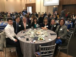 Some of Hanson Education Group's team at the State of the City luncheon