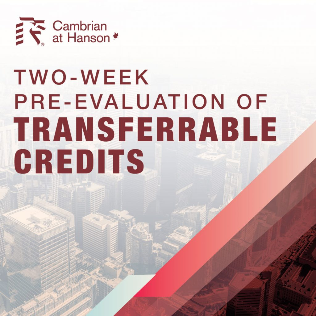 Poster for Two-Week Pre-Evaluation of Transferrable Credits