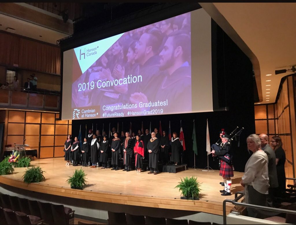 Cambrian at Hanson College 2019 convocation