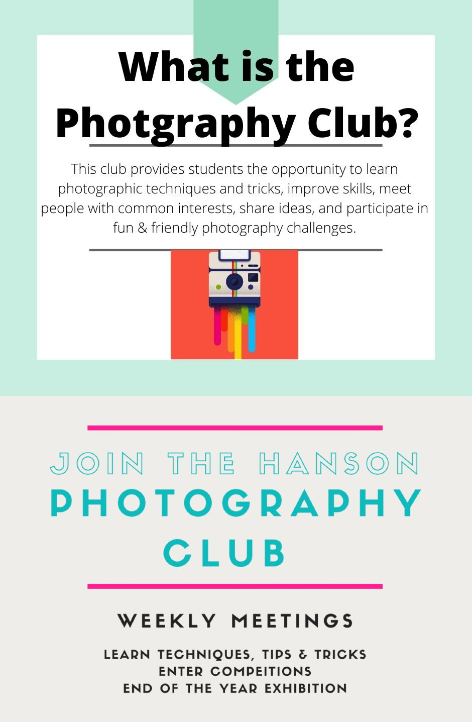 Photography clue poster two