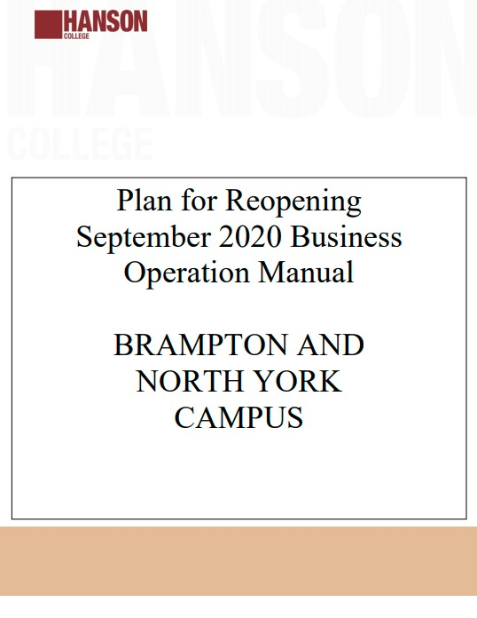 Plan for Reopening